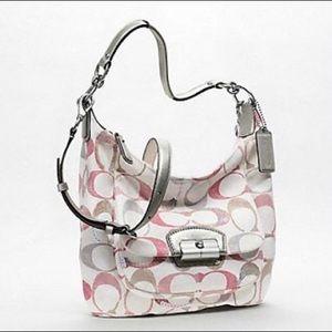 Coach Kristin Embellished Signature Hobo Handbag